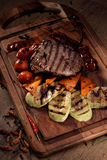 Grilled marble beef steak Stock Photos