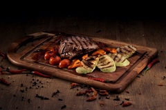 Grilled marble beef steak Stock Image