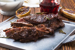 Grilled marinated flank steak Royalty Free Stock Photography