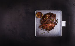 Grilled marinated flank steak Stock Photography