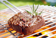Grilled marinated steak Stock Image
