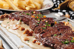 Grilled meat. Stock Images