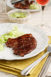 Grilled meat. In sumac with salad Royalty Free Stock Photography