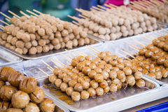 Grilled meat ball for sale2 Stock Image