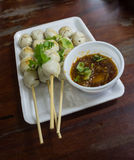 Grilled meat ball Stock Photography