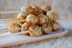 Grilled meat ball Royalty Free Stock Image