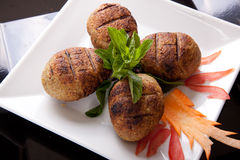 Grilled Meat balls Stock Photos