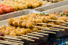 Grilled meat balls Stock Photography