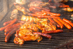 Grilled Meat Barbecue Stock Photo