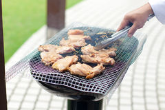 Grilled Meat. Grilled or barbecue Meat (Pork / Chicken Stock Photo