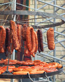Grilled meat on barbeque Stock Images
