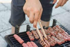 Grilled meat, bbq Stock Images