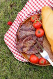 Grilled meat beef steak outdoors Stock Photos