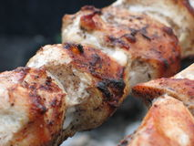 Grilled meat close-up Stock Images