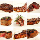 Grilled meat collage Royalty Free Stock Image