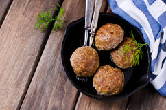 Grilled meat cutlets stock photo