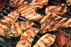 Grilled meat stock photo
