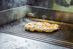 Grilled meat. Juicy steak from beef - soft focuse.  Stock Photos