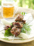 Grilled meat kebab Royalty Free Stock Photography