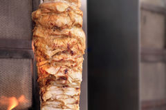 Grilled meat Kebab. Stock Photo