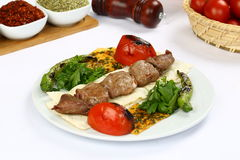 Grilled meat kebab ready to serve Royalty Free Stock Photos