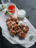 Grilled meat (kebab) Royalty Free Stock Photos