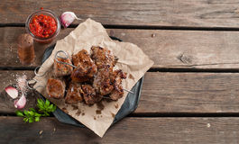Grilled meat (kebab) stock photo