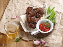 Grilled meat (kebab) Royalty Free Stock Image