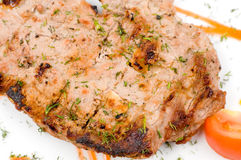 Grilled meat, macro Royalty Free Stock Photo