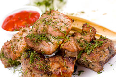 Grilled meat, macro Royalty Free Stock Photography