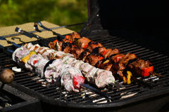 Grilled meat. Is made in summer Royalty Free Stock Photography