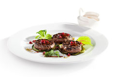 Grilled Meat Medallions Stock Photos