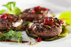 Grilled Meat Medallions Royalty Free Stock Images