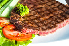 Grilled Meat Miho Akasaka Steak on the white plate Stock Photography