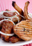 Grilled meat mix Royalty Free Stock Image