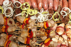 Grilled Meat Mix Stock Photos