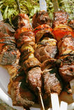 Grilled Meat On A Skewer. Close Up Royalty Free Stock Photos