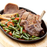 Grilled Meat Pan Royalty Free Stock Images