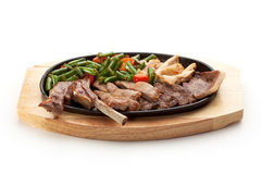 Grilled Meat Pan Stock Image