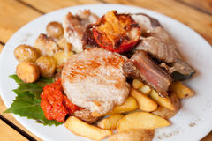 Grilled meat plate Stock Photo