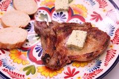 grilled meat pork стоковое изображение