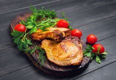 Grilled meat pork chops Royalty Free Stock Image