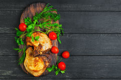 Grilled meat pork chops Royalty Free Stock Photography