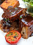 Grilled meat ribs Stock Photo