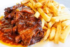 Grilled meat ribs Royalty Free Stock Photography