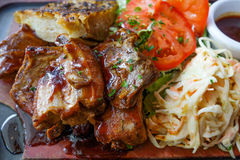 Grilled meat ribs Stock Photography
