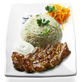 Grilled meat with rice Royalty Free Stock Photography