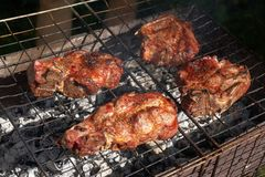 Grilled meat Royalty Free Stock Image