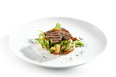 Grilled Meat Salad Royalty Free Stock Photo