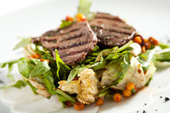Grilled Meat Salad Royalty Free Stock Images